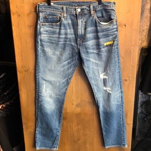 Levi's 512 Slim Taper Jeans with Distressing Sz 33
